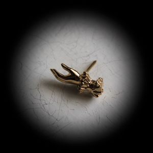 Hand-of-Valediction Lapel Pin / Tie Tack (brass)