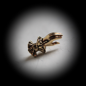 Hand-of-Valediction Lapel Pin / Tie Tack (brass) - Laura Flook