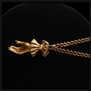 Hand of Valediction ~ necklace (brass) - Laura Flook