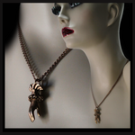 Hand of Valediction Necklace (brass) - Laura Flook