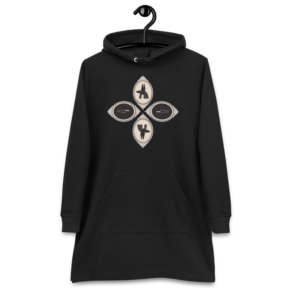 Anubis + The Feather of Truth ~ Hoodie dress - Laura Flook