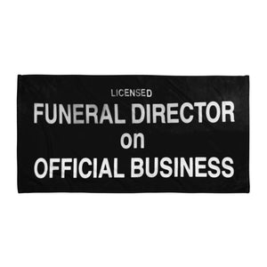 Funeral Director ~ Beach Towel / Blanket