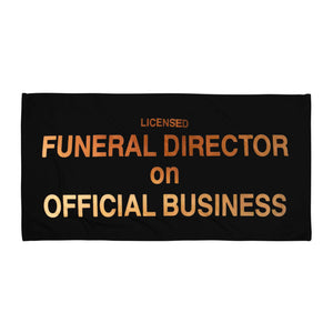 Funeral Director ~ Beach Towel / Blanket  (Sun-Raped)