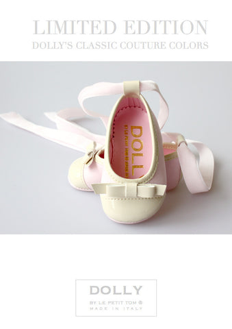 Shoes - Baby Ballerina - pink / beige & Bow LTD. ED. - le faire - Le Petit Tom - 1