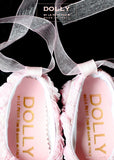 Shoes - Baby Ballerina - pink roses - le faire - Le Petit Tom - 2