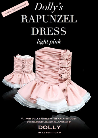 Rapunzel Dress - light pink - le faire - Le Petit Tom - 1