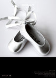 Shoes - Baby Ballerina - silver - le faire - Le Petit Tom - 1