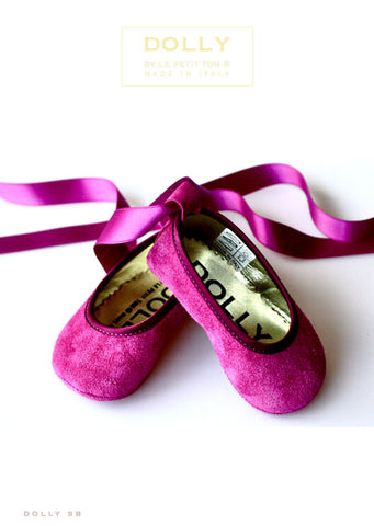 Shoes - Baby Ballerina - amethyst - le faire - Le Petit Tom - 1