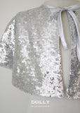 Sequined Capelet - Silver - le faire - Le Petit Tom - 2