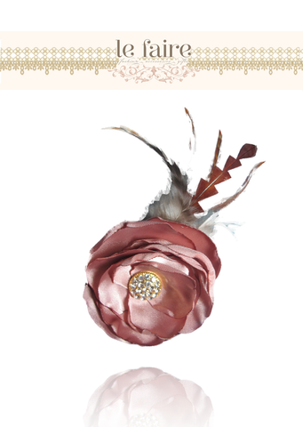 Feather Vintage Rose Headband - le faire - Carnival Designs