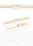 Gift Certificates - le faire - Carnival Designs - 4