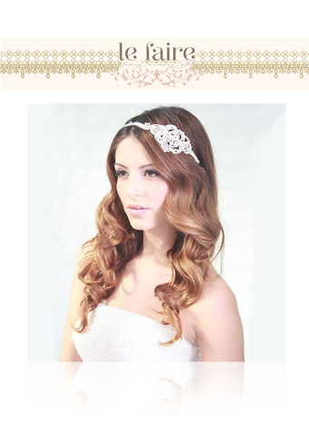 Swarovski and Pearl Headband - le faire - Le Faire