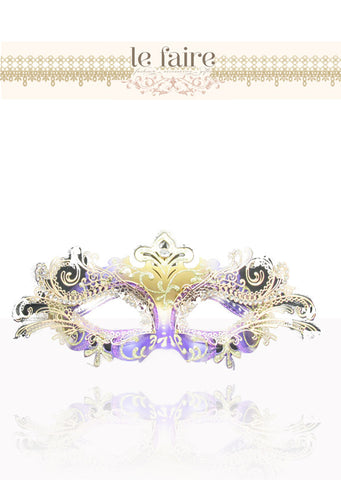 Metal Mask - Gold & Purple - le faire - --------