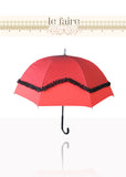 French Parasol - Red & Black Net - le faire - -------- - 2