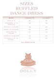Ruffled Chiffon Dance Dress - gold glitter - le faire - Le Petit Tom - 5