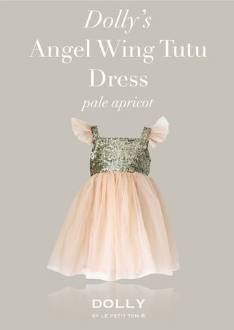 Angel Wing Dress - pale apricot - le faire - Le Petit Tom - 1