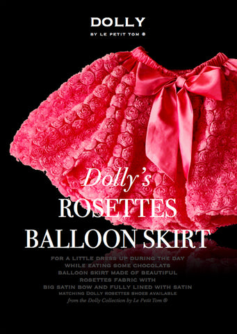 Rosettes Balloon Skirt - fuchsia - le faire - Le Petit Tom - 1