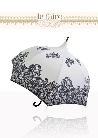 French Parasol - Black & White Lace - le faire - -------- - 1
