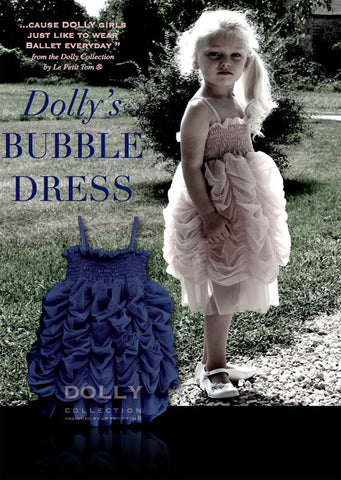 Bubble Dress - dark blue - le faire - Le Petit Tom - 1