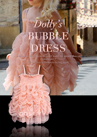 Bubble Dress - ballet pink - le faire - Le Petit Tom - 1