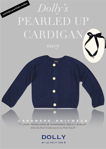 Pearled Up Cardigan - Cashmere - navy - le faire - Le Petit Tom - 1