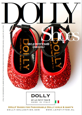 Shoes - Lucy Ballerina - red glitter - le faire - Le Petit Tom - 1