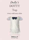 Dotty Top - ivory with navy dots - le faire - Le Petit Tom - 1
