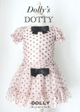 Dotty Skirt - ballet pink with black dots - le faire - Le Petit Tom - 2