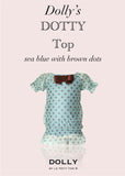 Dotty Skirt - blue with brown dots - le faire - Le Petit Tom - 3