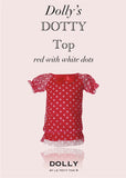 Dotty Top - red with white dots - le faire - Le Petit Tom - 1