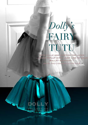 Fairy Tutu - emerald / navy - le faire - Le Petit Tom - 1