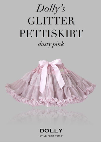 Pettiskirt - Glitter Dusty Pink - le faire - Le Petit Tom - 1