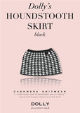 Pearled Houndstooth Skirt - black & white - le faire - Le Petit Tom - 1