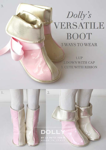 Shoes - Baby Boots - pink/beige - le faire - Le Petit Tom - 1