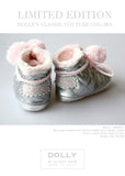 Shoes - Baby Boots - silver with pink - le faire - Le Petit Tom - 2
