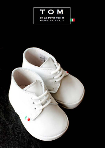 Shoes - Classic Lace Ups - white - le faire - Le Petit Tom - 1