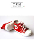 Shoes - High Sneaker - red - le faire - Le Petit Tom - 3
