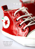 Shoes - High Sneaker - red - le faire - Le Petit Tom - 2