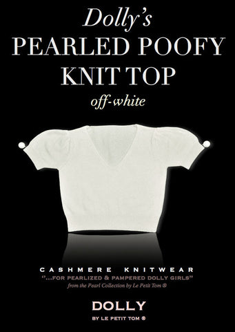 Pearled Poofy Sleeved Knit Top - le faire - Le Petit Tom - 1
