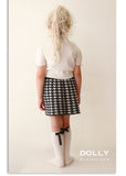 Pearled Houndstooth Skirt - black & white - le faire - Le Petit Tom - 2