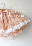 Pettiskirt - lace trim - pale apricot - le faire - Le Petit Tom - 1