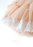 Pettiskirt - lace trim - pale apricot - le faire - Le Petit Tom - 4
