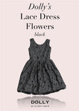 Lace Dress Flowers - black - le faire - Le Petit Tom - 1