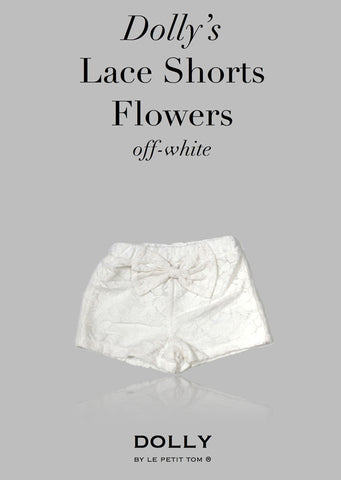 Lace Shorts with Big Bow - off white - le faire - Le Petit Tom - 1