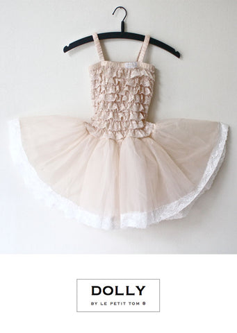 Lace Tutu Dress - cream - le faire - Le Petit Tom - 1