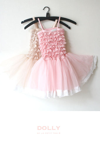 Lace Tutu Dress - pink - le faire - Le Petit Tom - 1