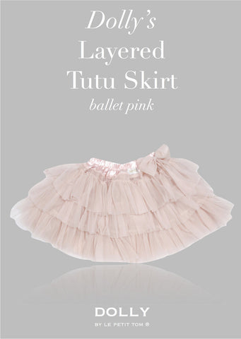Layered Tutu Skirt - ballet pink - le faire - Le Petit Tom - 1