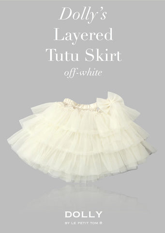 Layered Tutu Skirt - off white - le faire - Le Petit Tom - 1