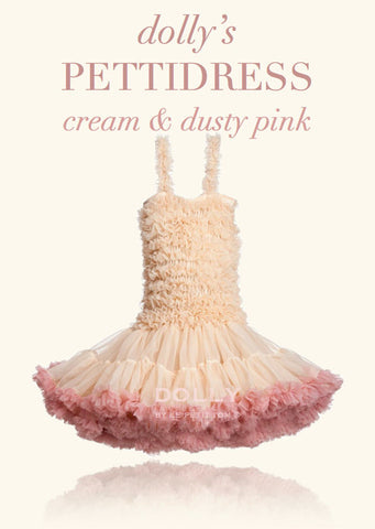 PettiDress - cream & dusty pink - le faire - Le Petit Tom - 1