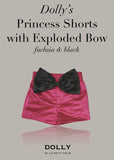 Princess Shorts with Exploded Bow - dusty pink - le faire - Le Petit Tom - 8